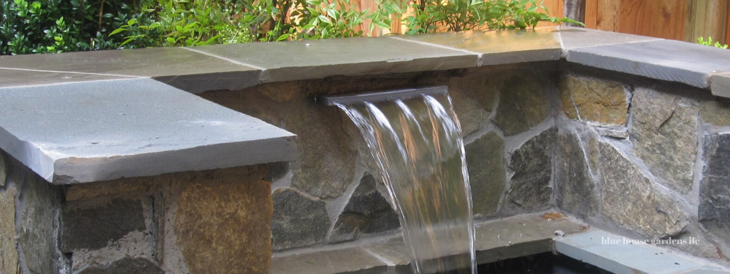 Stone Wall Fountain photo